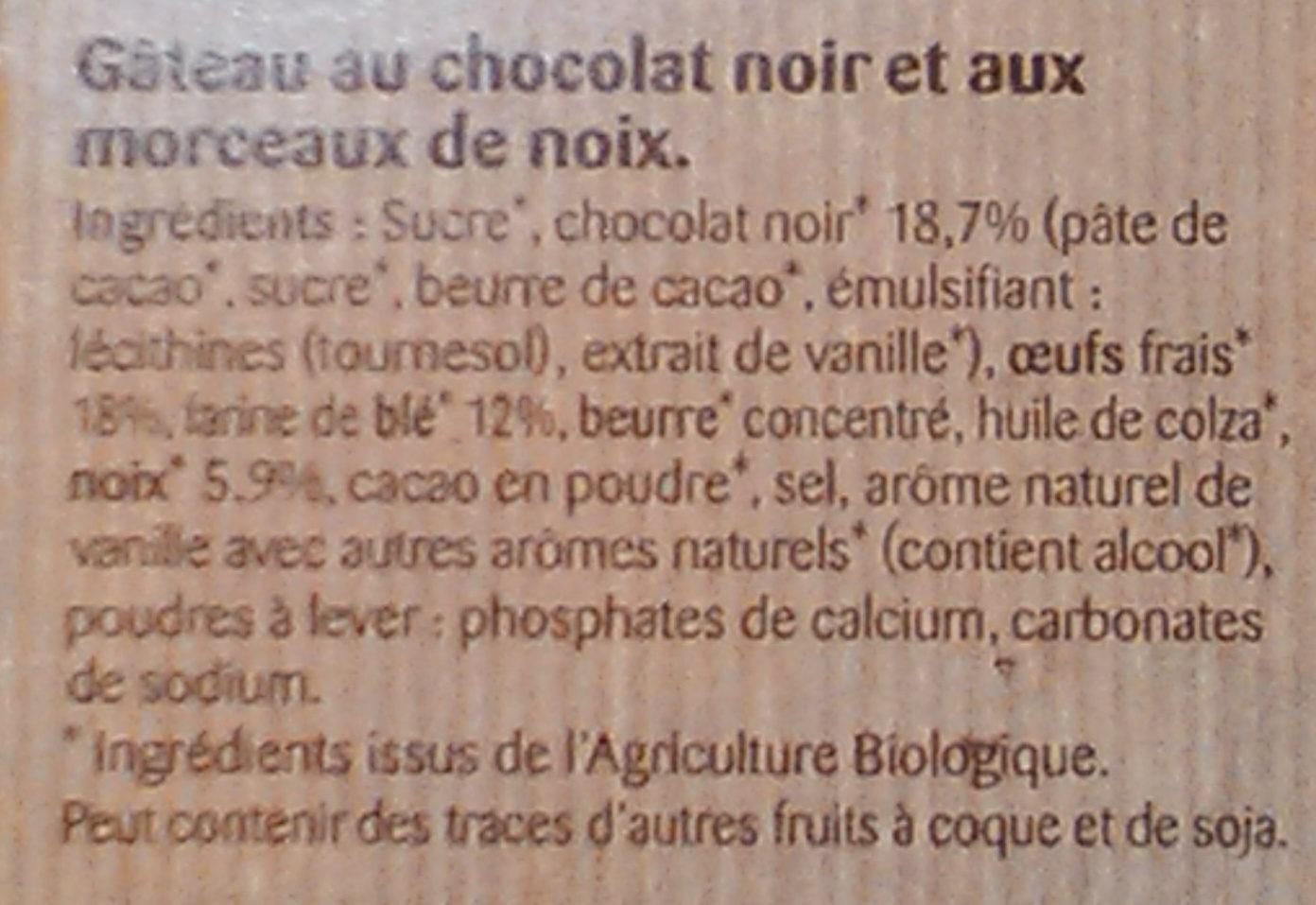 Brownie au chocolat noir et noix grillées - Ingrédients