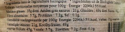 Epicerie / Epicerie Sucrée / Aides à La Pâtisserie - Informations nutritionnelles