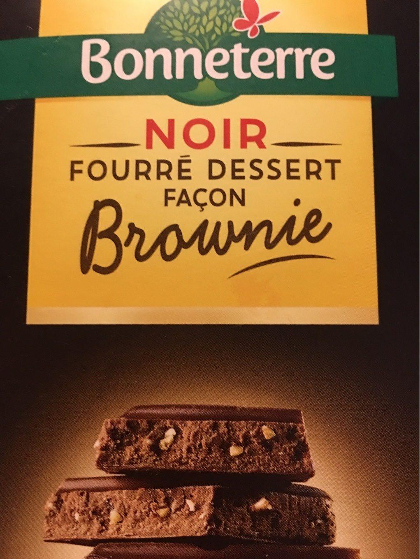 Chocolat Noir Fourre Dessert Brownie - Product