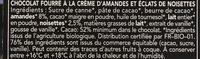 Chocolat Noir Fourre Dessert Brownie - Ingredients