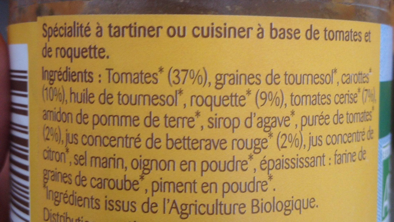 Tartinade Tomate cerise roquette - Ingredients - fr