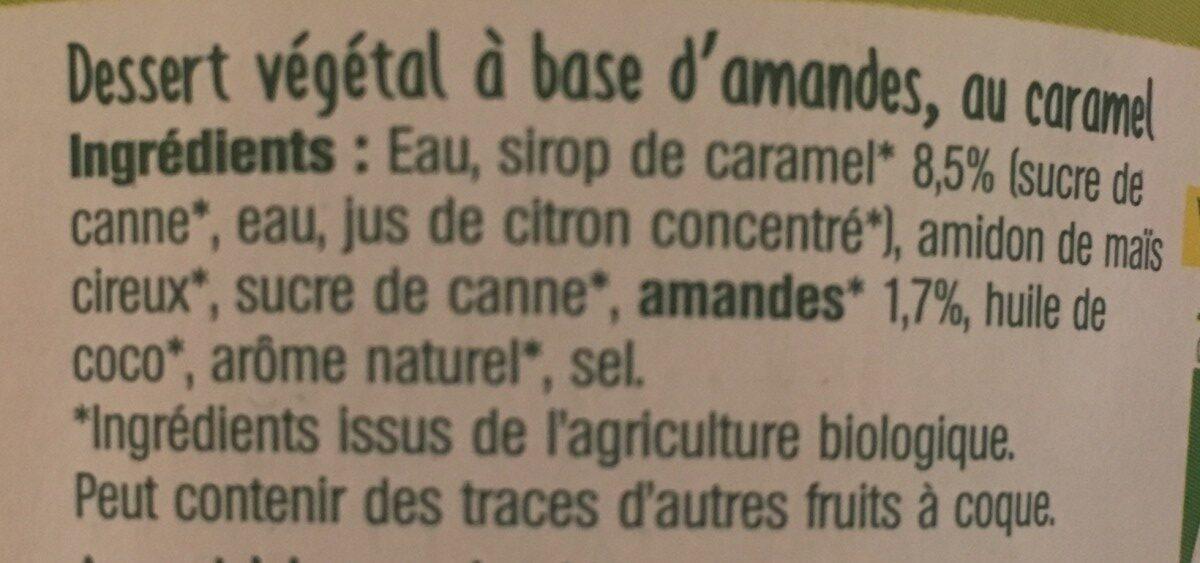 Yaourt Amande Caramel - Ingrédients - fr