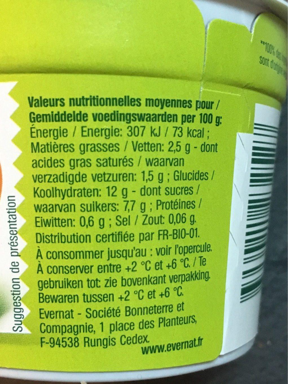 Yaourt Amande Caramel - Informations nutritionnelles - fr
