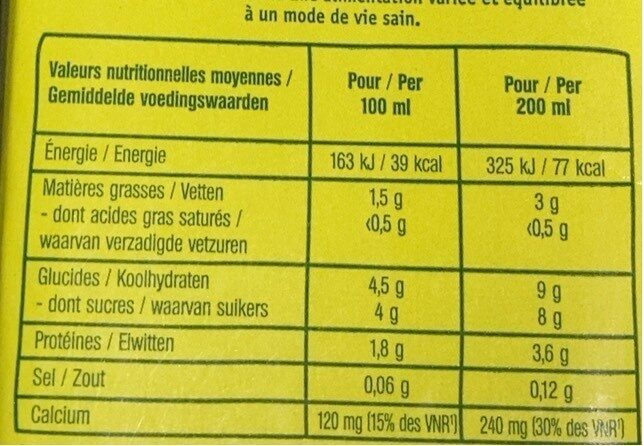 Nutri Amande protéine - Informations nutritionnelles - fr