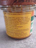 Tartinade de légumes tomates ail des ours - Ingredients