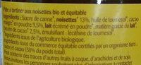 Pâte à tartiner cacao noisette - Ingrédients - fr