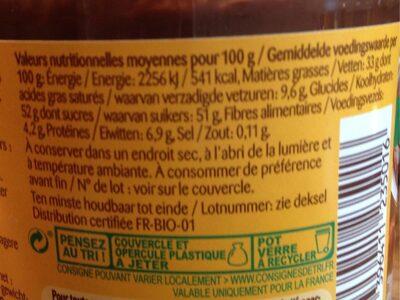 Pâte à tartiner cacao noisette - Informations nutritionnelles - fr