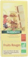 Chocolat Blanc Fruits Rouges - 产品 - fr