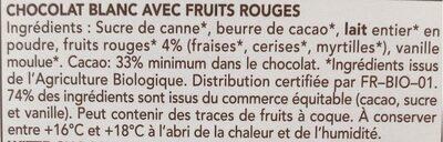 Blanc Fruits Rouges - 成分