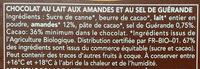 Lait Amandes Sel de Guérande - Ingredienti - fr