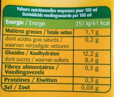 Boisson riz châtaigne avoine - Informations nutritionnelles