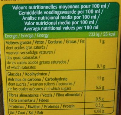 Lait riz sarrasin - Informations nutritionnelles