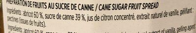 Spécialité De Fruits Au Sucre De Canne - Abricot - Ingredients - fr