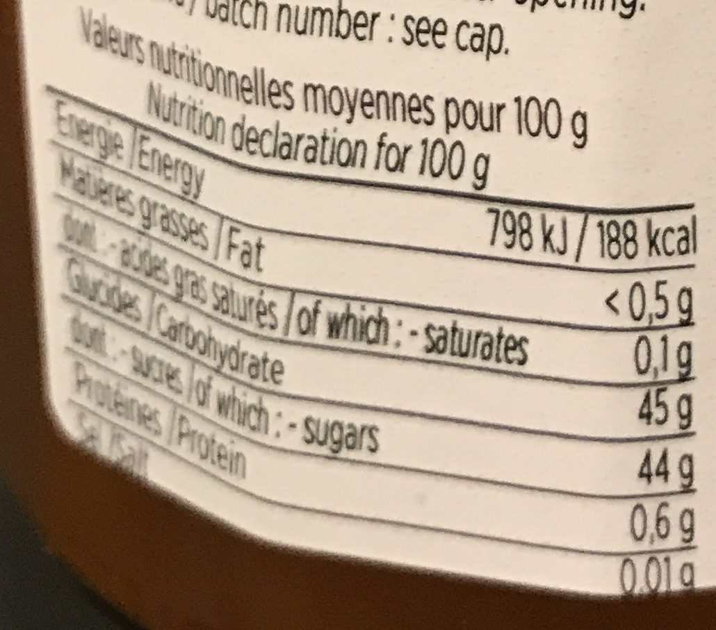 Spécialité De Fruits Au Sucre De Canne - Abricot - Nutrition facts - fr