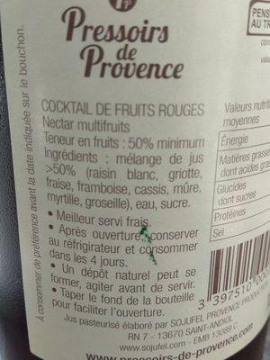 Cocktail de fruits rouges - Ingredienti - fr