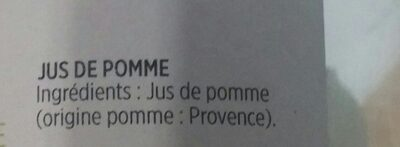 Pur jus Pomme de Provence Trouble - Ingredients - fr