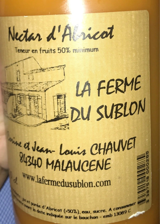 Nectar d'abricot - Prodotto - fr