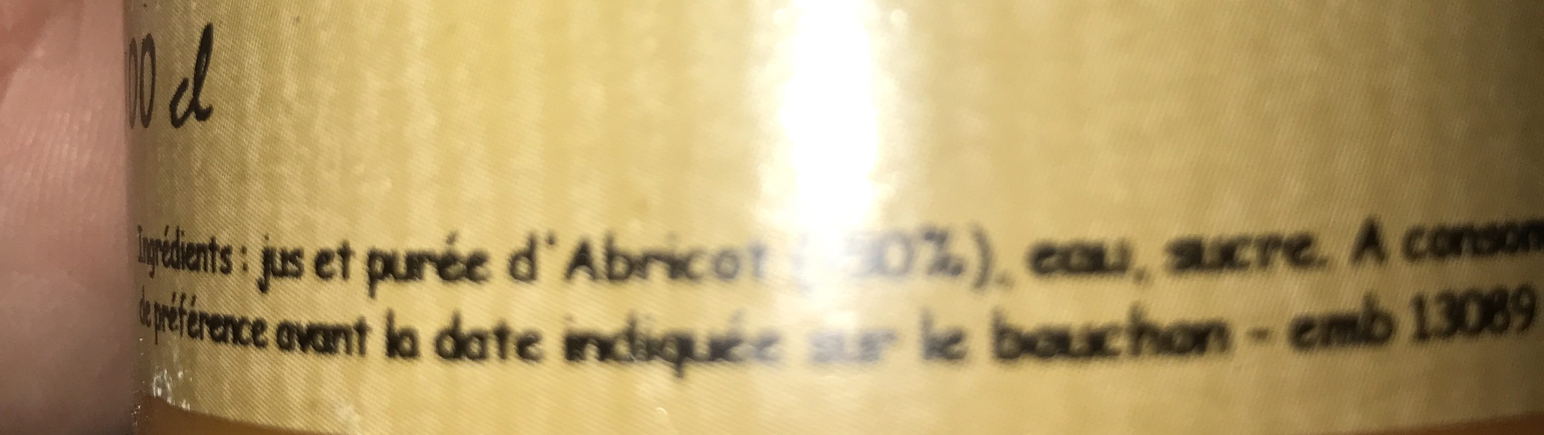 Nectar d'abricot - Ingredienti - fr