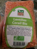 Lentilles corail bio - Produit
