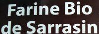 Farine Bio de Sarrasin - Ingrédients