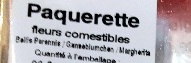 Paquerettes - Ingrediënten