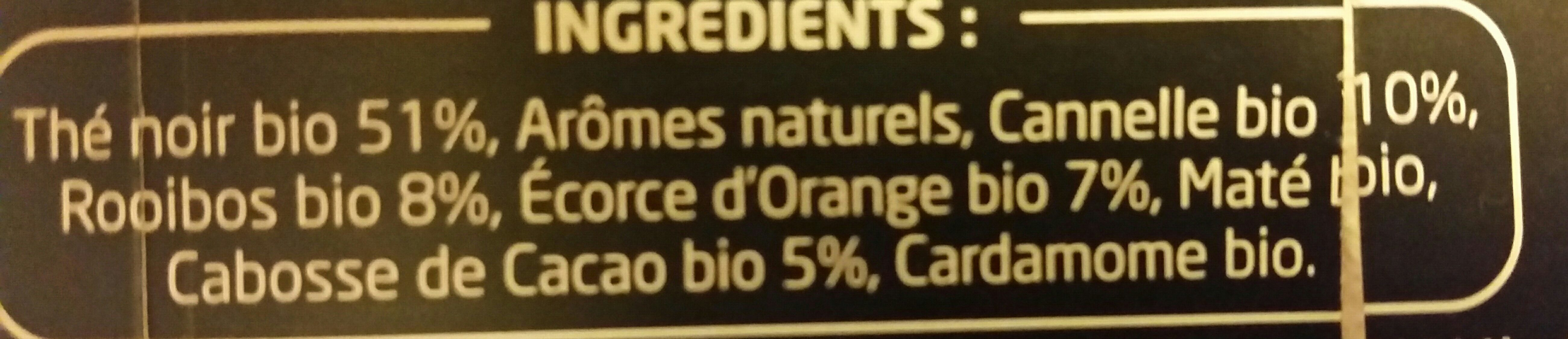 Epicerie / Thé Bio Et équitable / Thé Noir - Ingredients