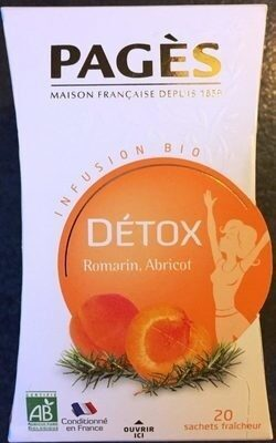 Infusion Bio Détox Romarin, Abricot - Product - fr