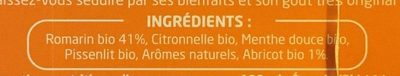 Infusion Bio Détox Romarin, Abricot - Ingredients - fr