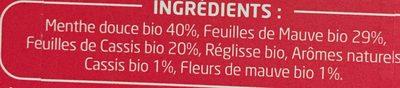 Infusion bio PAGES ventre plat - Ingrédients - fr