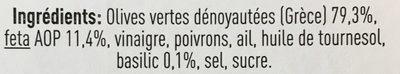Feta & Basilic - Ingrediënten - fr