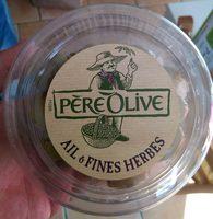 Olives Vertes Dénoyautées à l'Ail et aux Fines Herbes - Product