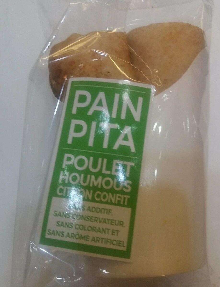 Pain pita poulet houmous citron confit - Product