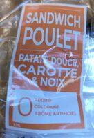 Sandwich poulet, patate douce, carotte & noix - Prodotto - fr