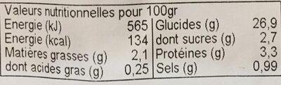 Nem chinois aux légumes - Valori nutrizionali - fr