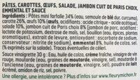 La parisienne - Ingredients