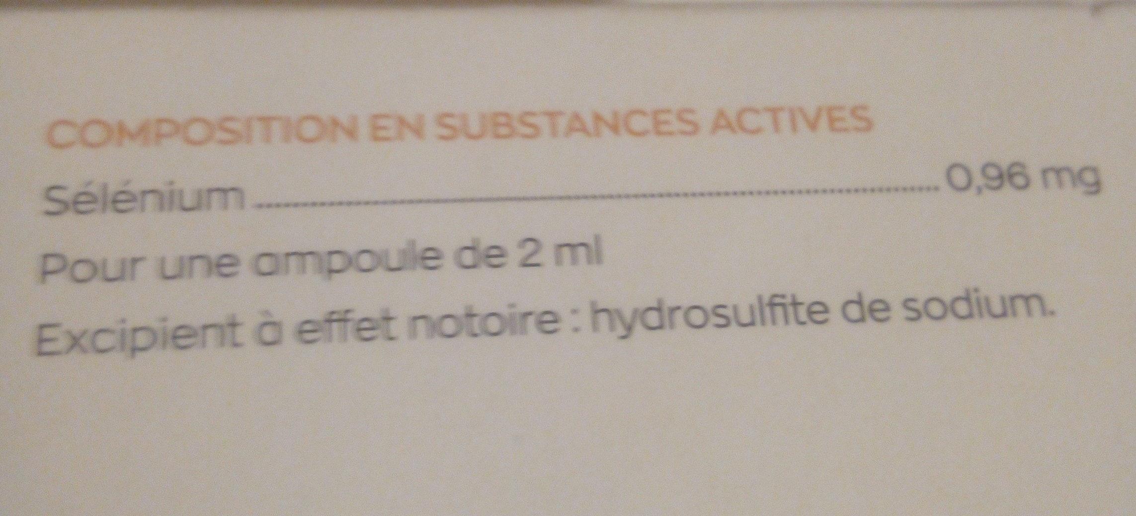 granions de sélénium - Inhaltsstoffe - fr