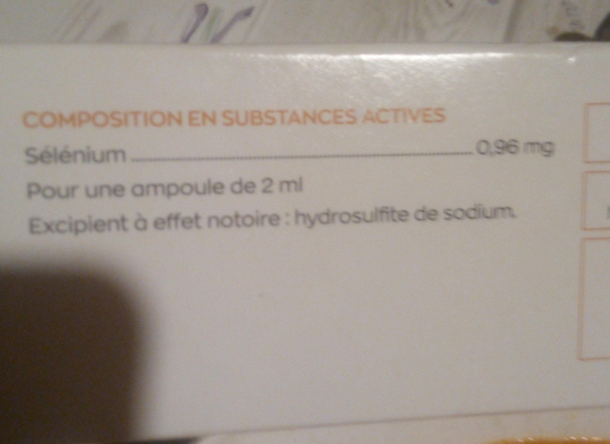 granions de sélénium - Nährwertangaben - fr