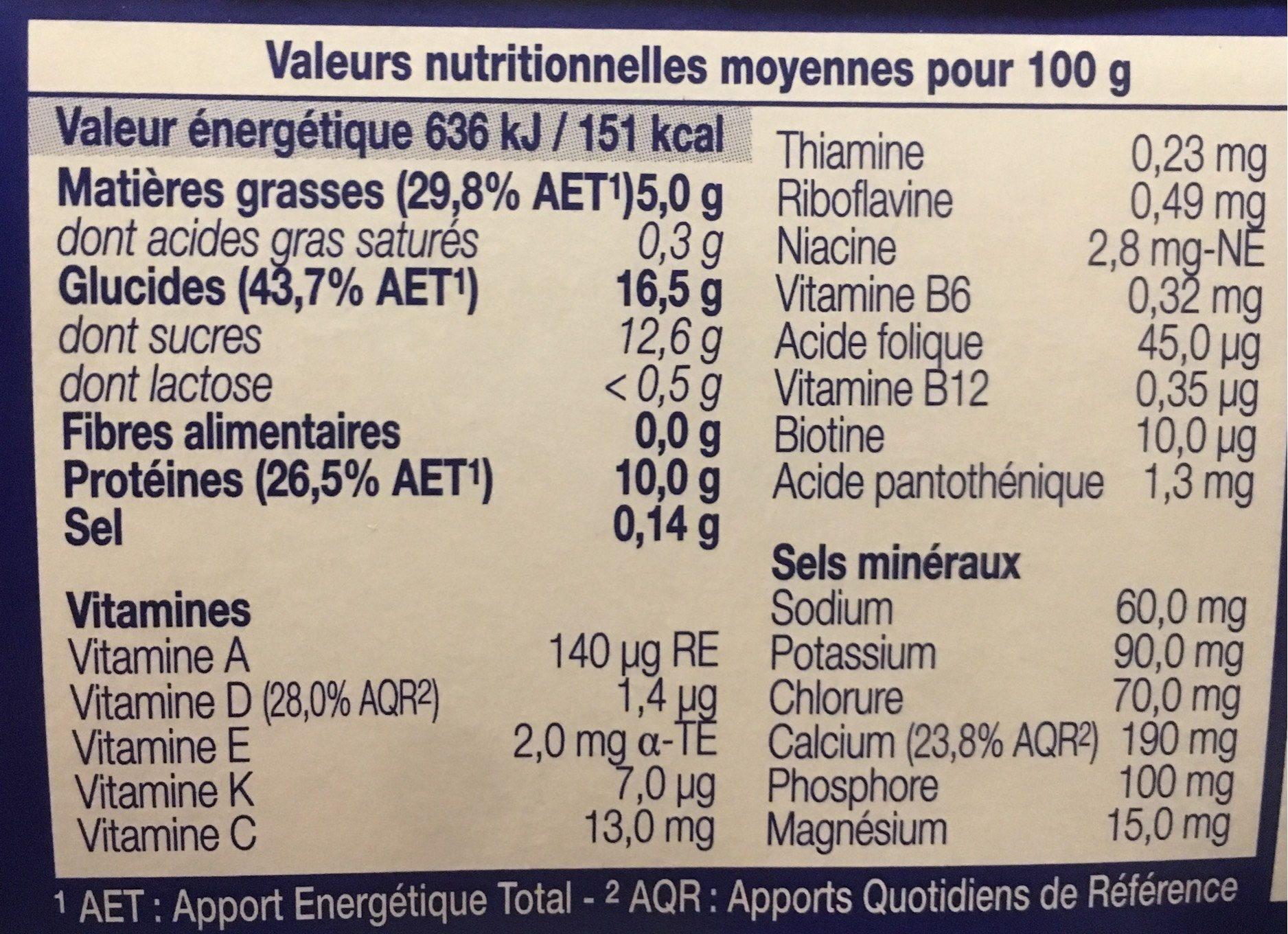 Crème Dessert Sans Lactose HP HC Vanille - Informations nutritionnelles - fr
