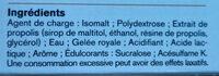 Mediflor Pastilles Adoucissantes Pour La Gorge Coeur Liquide Propolis & Gelée Royale - Ingrediënten
