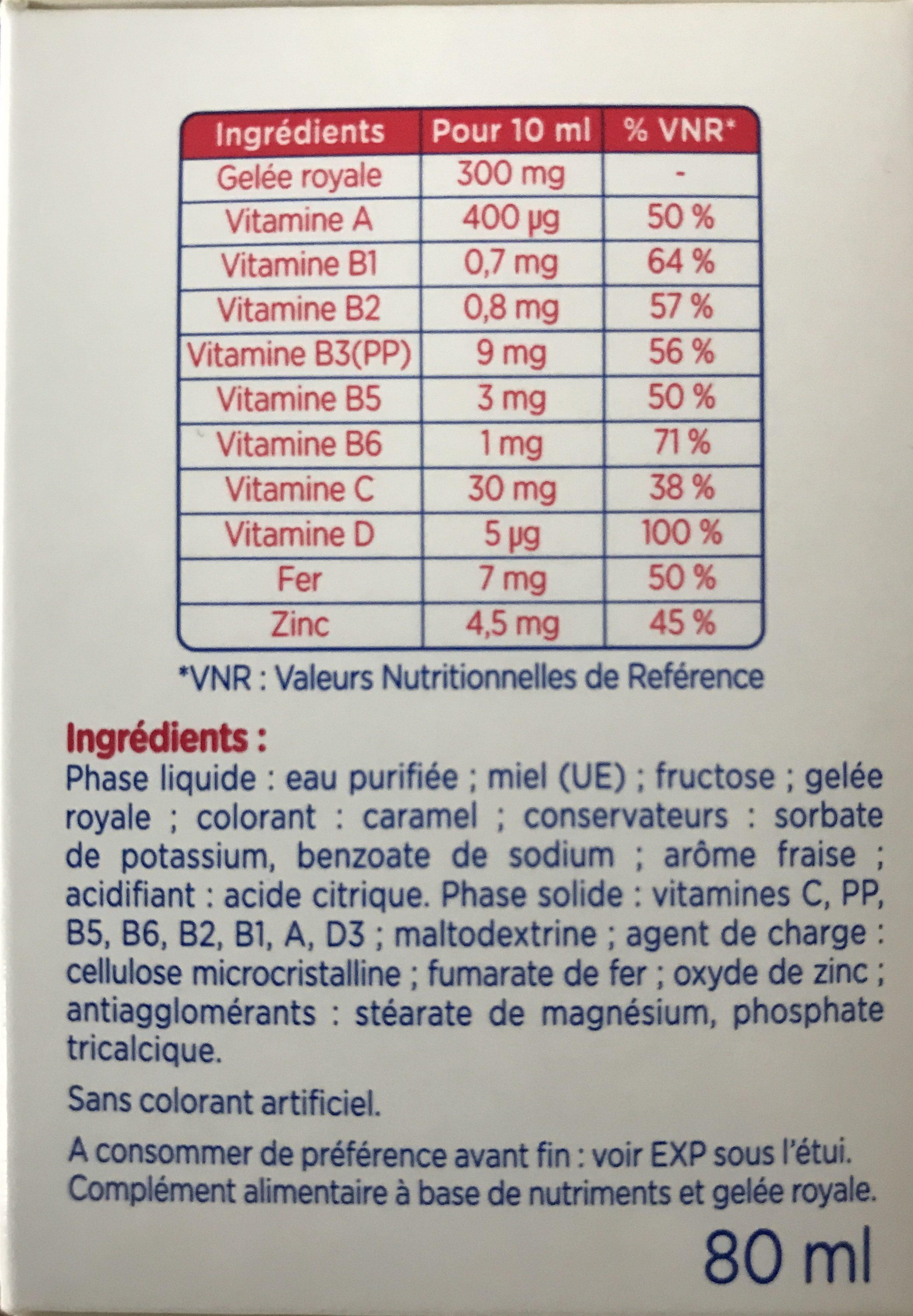 Alvityl Petit Boost 8 Flacons Goût Fraise 10ML - Ingrédients - fr