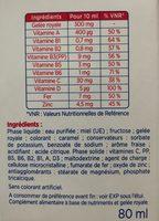 Alvityl Petit Boost 8 Flacons Goût Fraise 10ML - Informations nutritionnelles - fr
