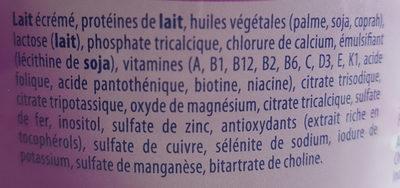 Novalac Transit+ 2AGE Lait - Ingredienti - fr