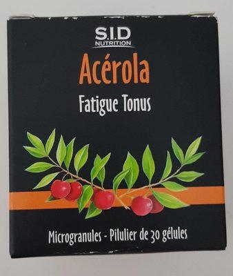 Sid Nutrition Acerola Fatigue Tonus 30 Gélules - Produit