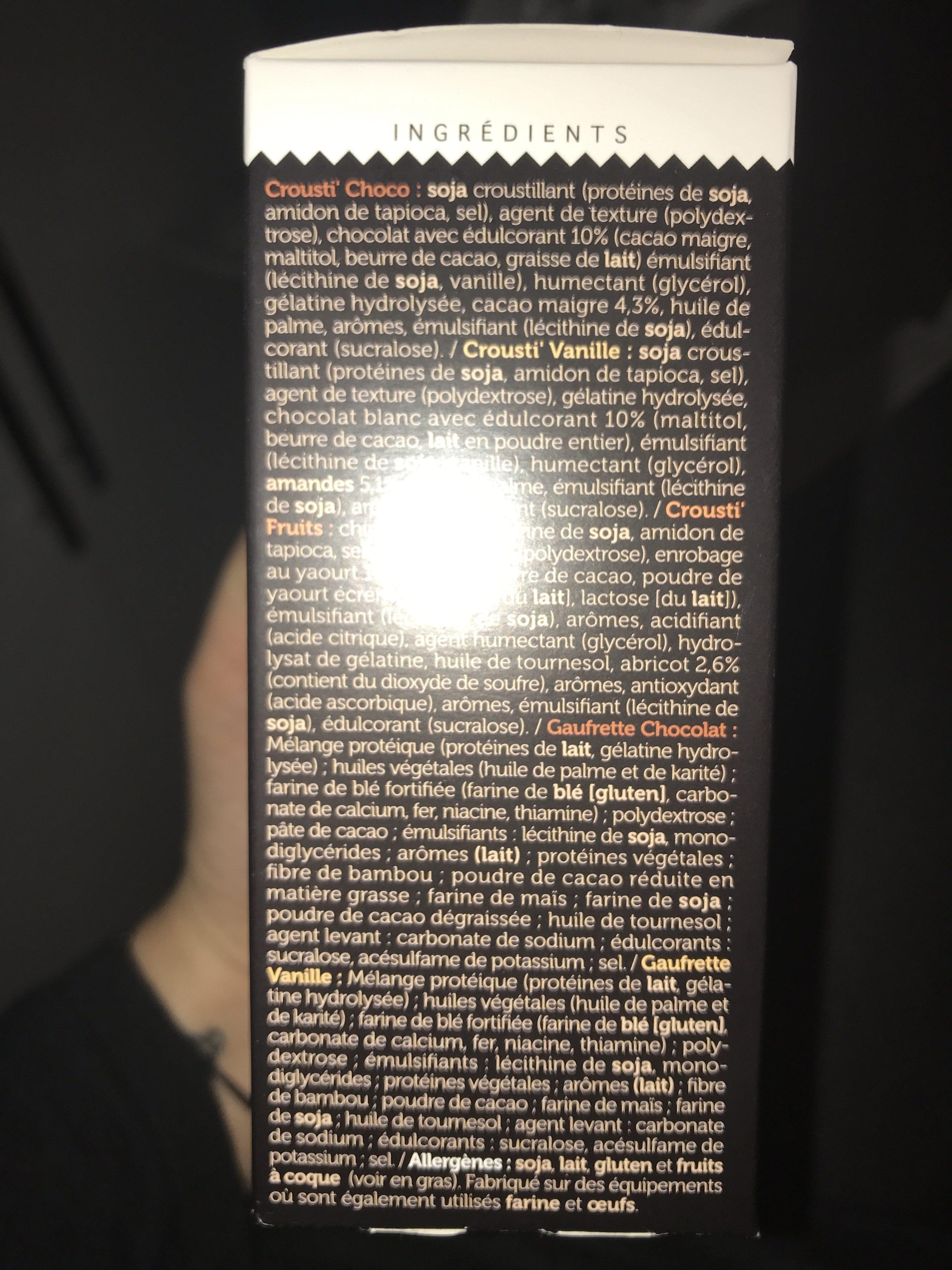 Protifast En-cas Assortiment 5 Saveurs - Ingrediënten - fr