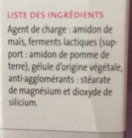 Pilèje Lactibiane Référence 30 Gélules - Ingrédients