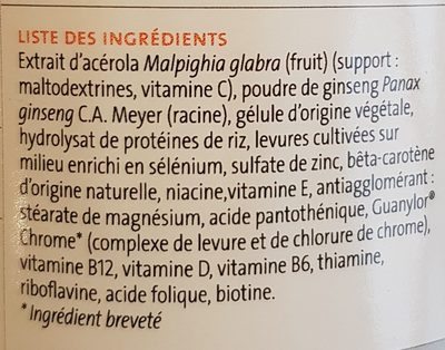 Multibiane - Ingredients