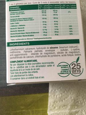 Silettum Croissance Cheveux 60 Gélules - Ingrédients - fr
