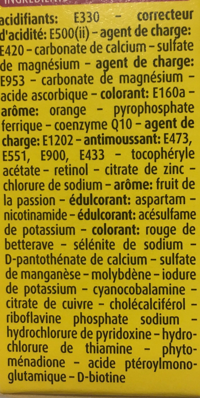 Bayer Supradyn Intensia 30 Comprimés Effevescents - Ingredients