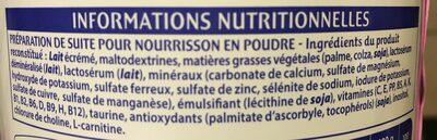 Lait 2eme Age Des 6 Mois Picot, 900 G - Ingrédients - fr