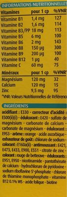 Bayer - Supradyn Magnesia 30 Comprimés Effervescents - Nutrition facts